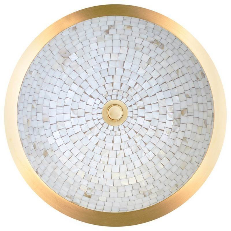 Linkasink Semi Recessed Vessel Mosaic Unlacquered Brass